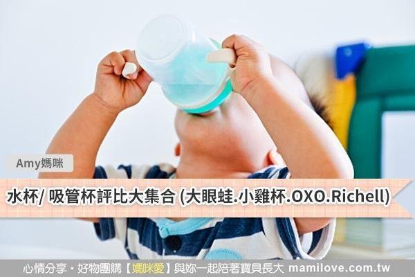 水杯、吸管杯優缺點評比(大眼蛙、小雞杯、OXO、Richell)