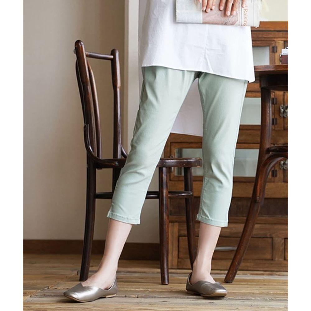 日本 zootie - Air Pants 輕薄彈性修身七分褲-薄荷綠