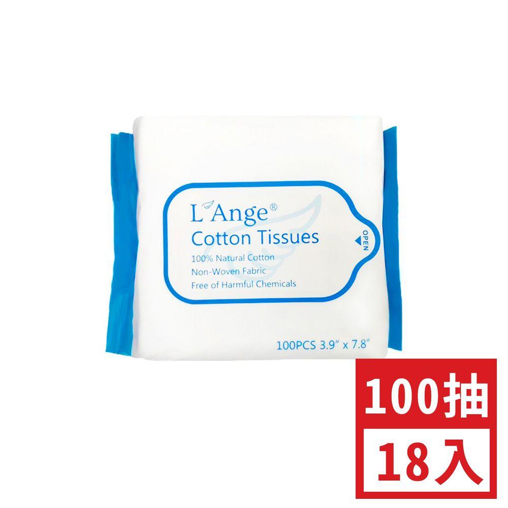 L'ange - 棉之境 抽取式純棉護理巾 (10x20cm)-100抽-18入