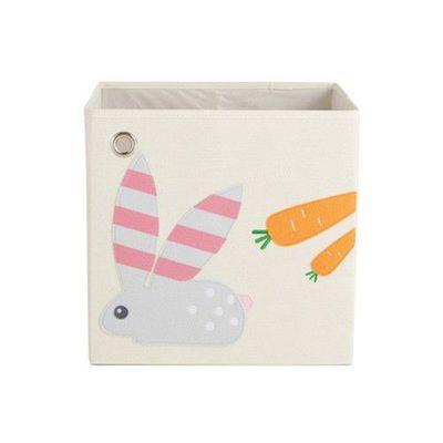 玩具收納箱-條紋兔兔 (33x33x33cm)