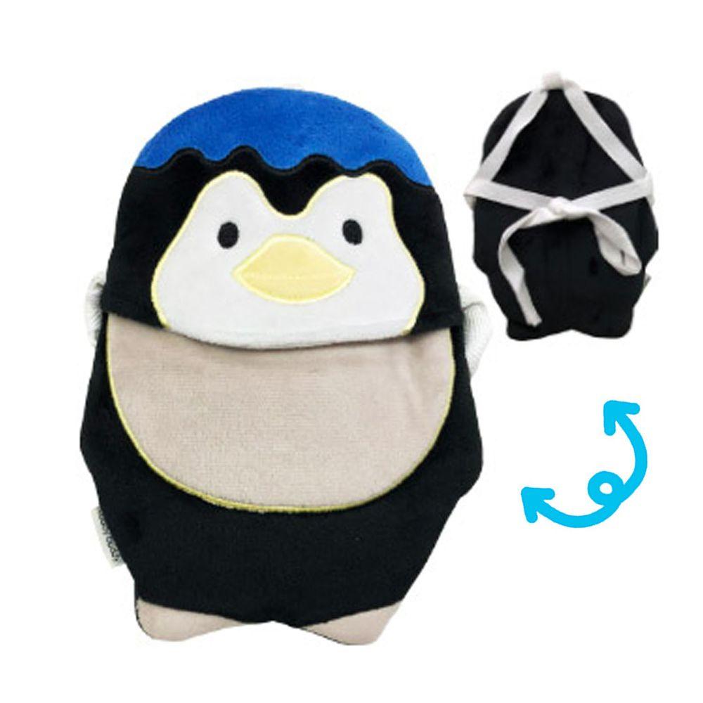 日本代購 - 背巾/推車墊 (附保溫保冷劑/可當小背包)-企鵝-灰領巾 (約(15~19)x(19~22)cm)