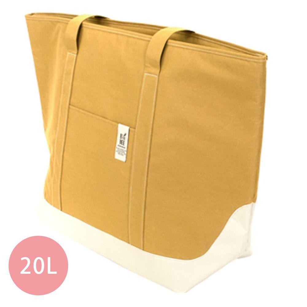 日本 Big Bee - 保冷機能肩背包/購物袋-芥末 (L(63x60cm))-20L