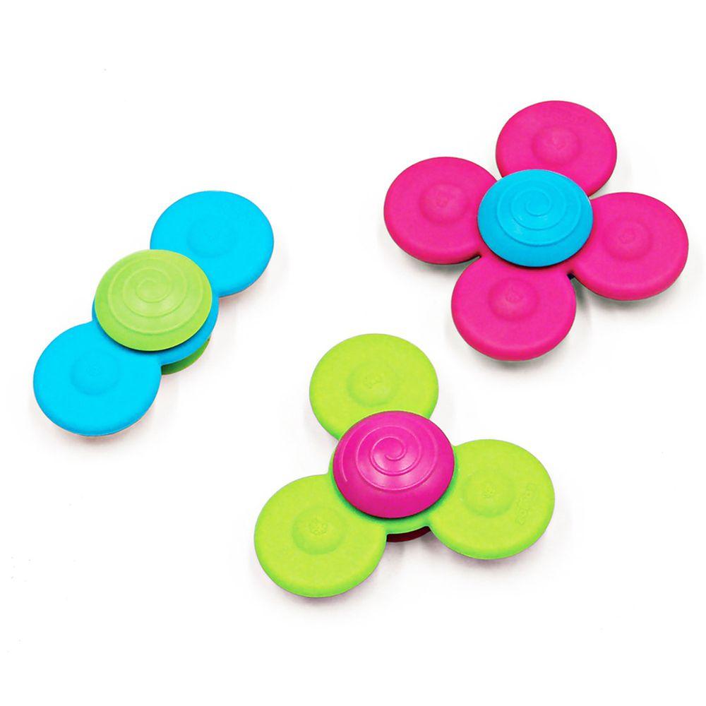 美國 FatBrain - 【熱賣】寶寶指尖陀螺-藍、綠、桃紅各1
