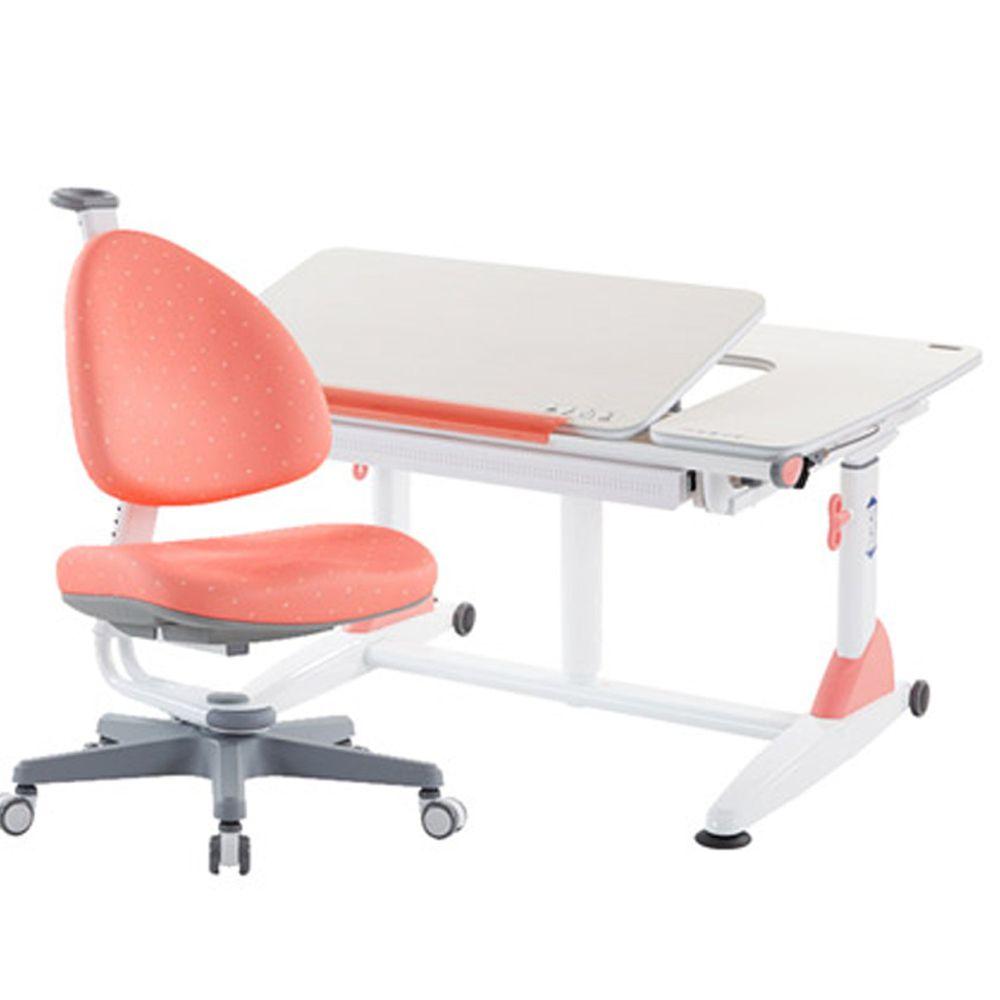 大將作 kid2youth - G6 Plus-XS成長桌椅組(含BABO椅)/兒童書桌椅-珊瑚紅 (桌面尺寸寬101x長76cm)
