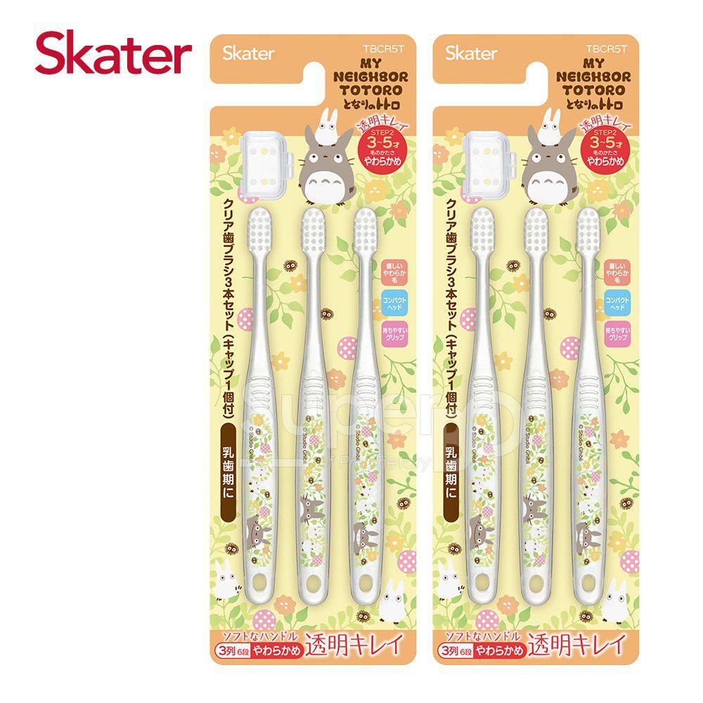 日本 SKATER - 兒童牙刷(3-5歲)組合 共6支-龍貓