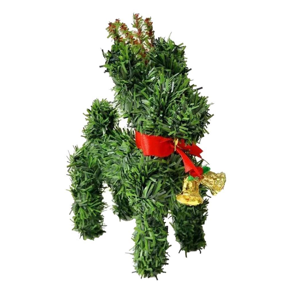 摩達客 - 超萌桌上型迷你6吋聖誕小鹿擺飾