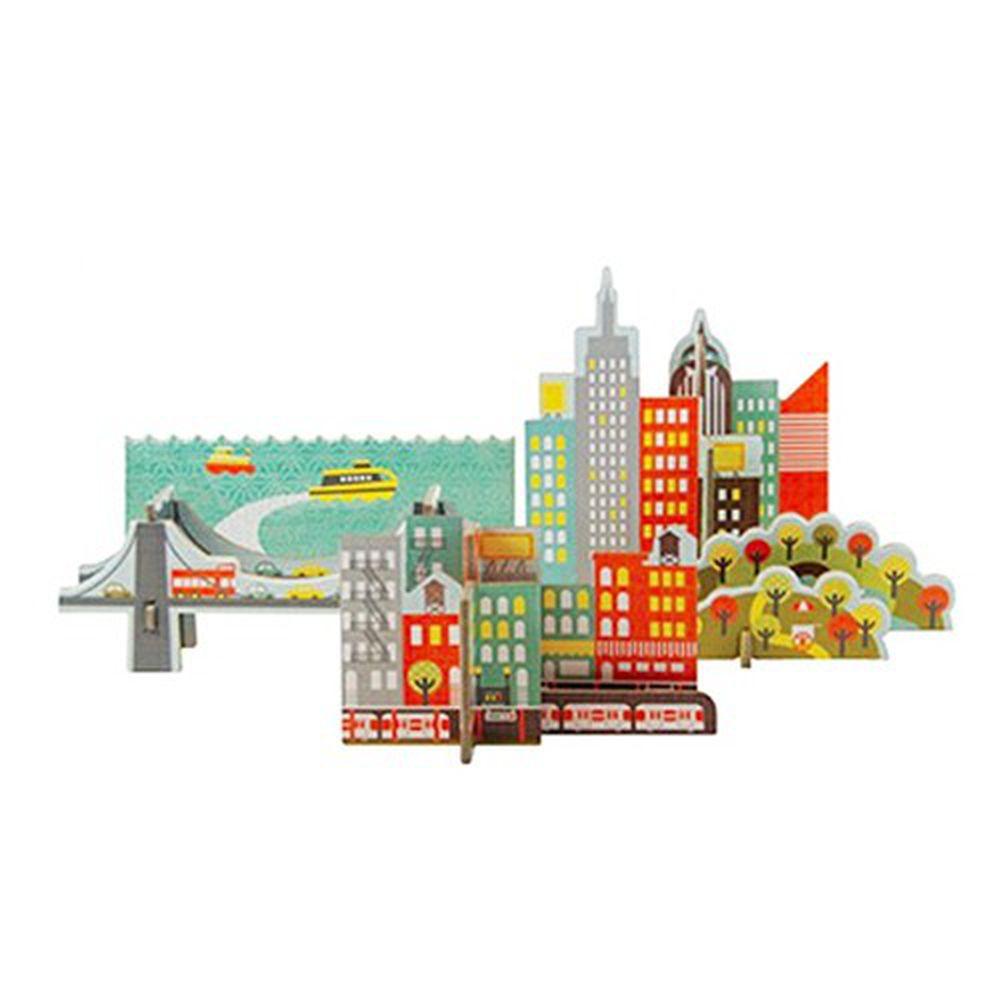 美國 Petit Collage - 立體組裝拼圖-城市之旅 - 紐約