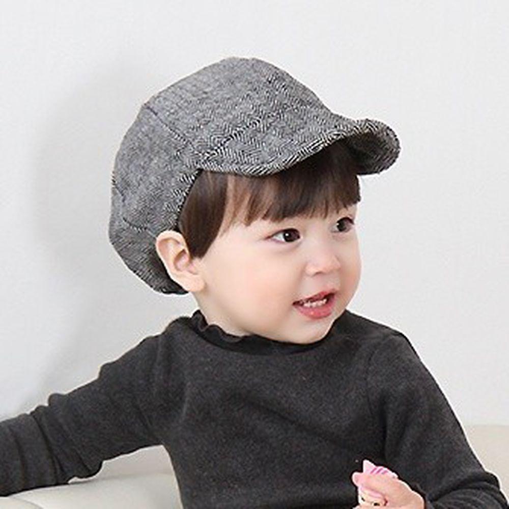 韓國 Babyblee - 紋路棒球帽-黑 (FREE)
