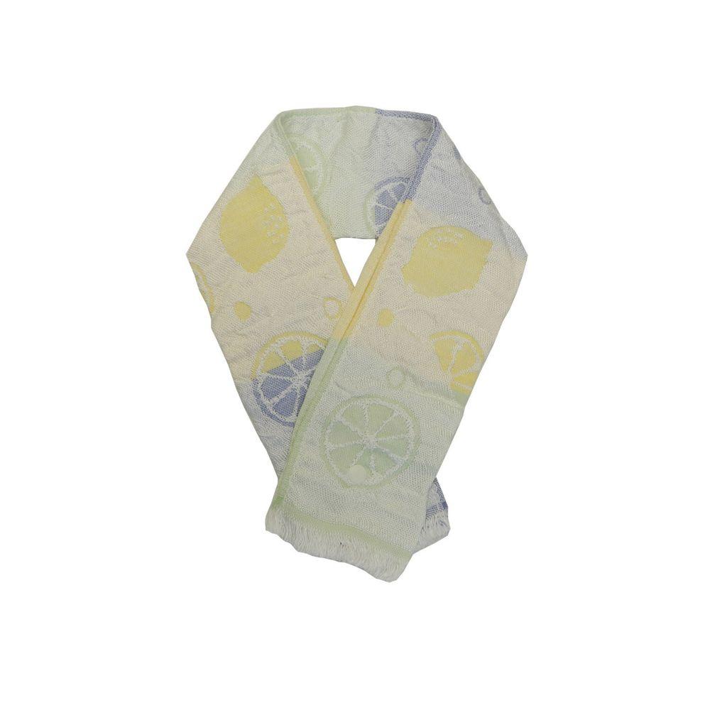 日本涼感雜貨 - 日本製 Eco de COOL 接觸冷感毛巾(附保冷劑/固定釦)兒童-檸檬-漸層黃藍 (65x8cm)