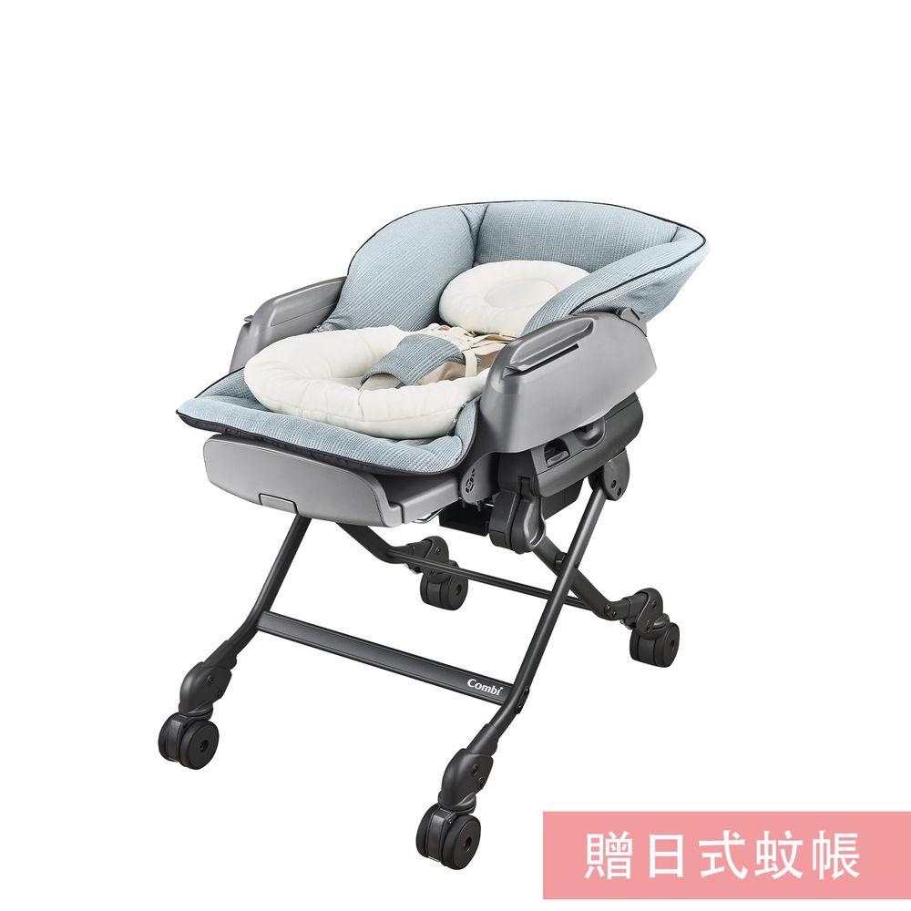 日本 Combi - 安撫餐椅搖床-BEDi Long MT  [手動款]-贈日式蚊帳