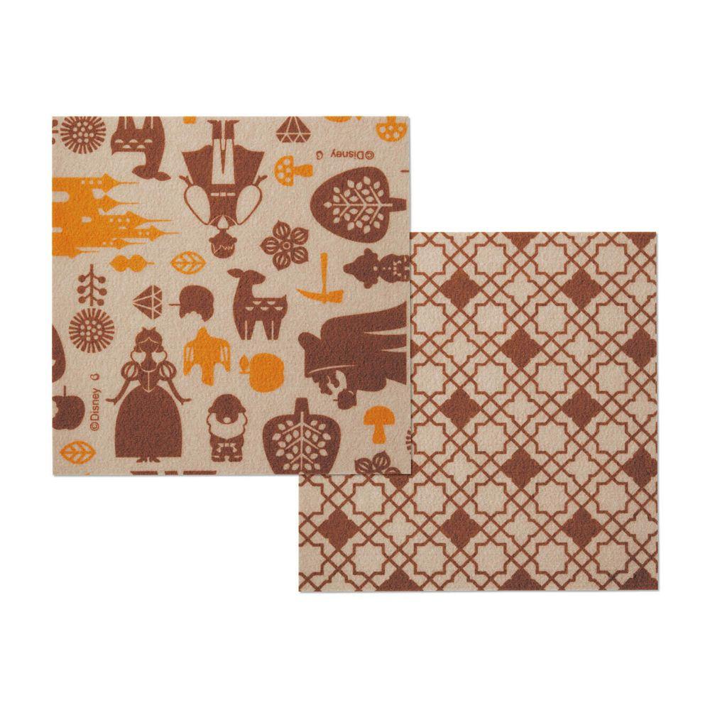 日本千趣會 - 迪士尼 日本製室內輕薄地毯(可機洗)-白雪公主 (30x30cm)-各色2枚(共6枚)