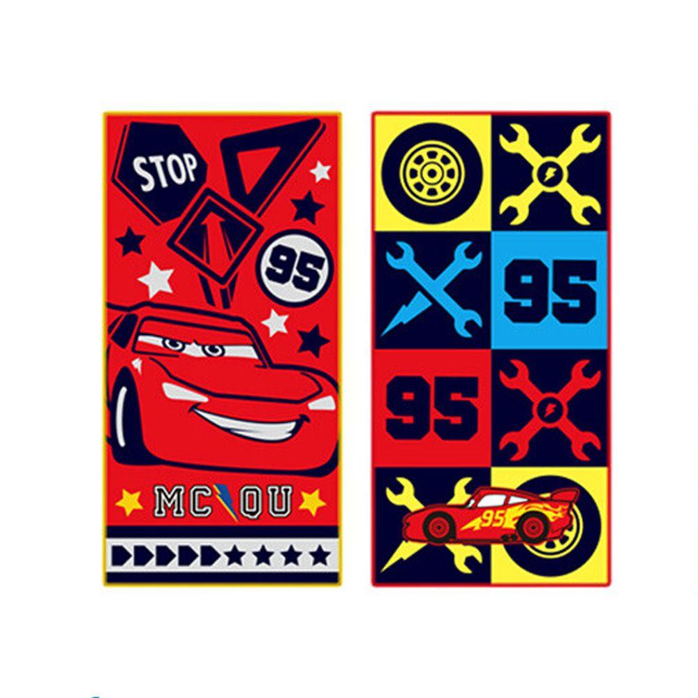 日本代購 - 長方形小手帕/毛巾兩入組-CARS-黑紅 (10×20cm)