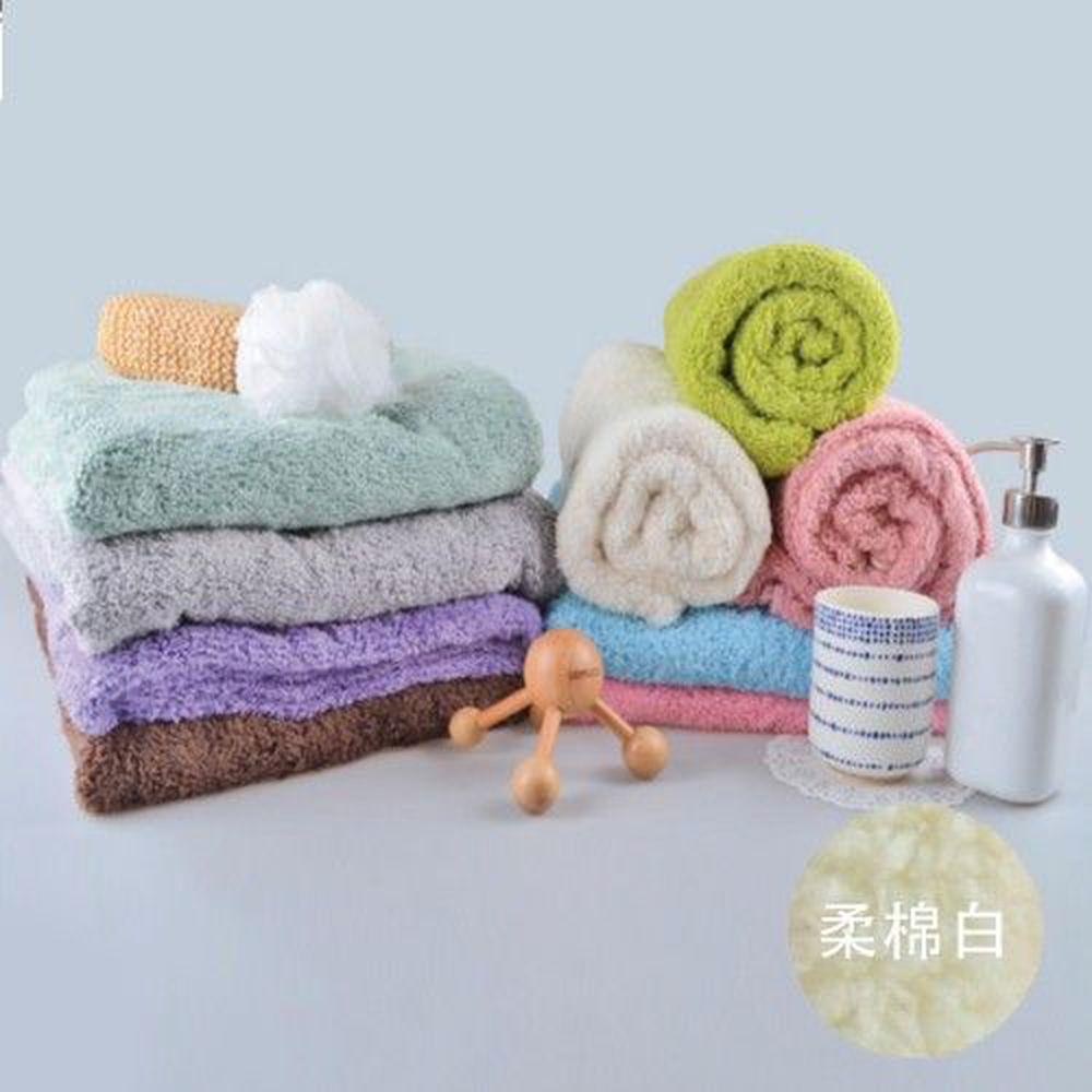 貝柔 Peilou - 超強十倍吸水超細纖維抗菌大浴巾-柔棉白 (140x76cm)
