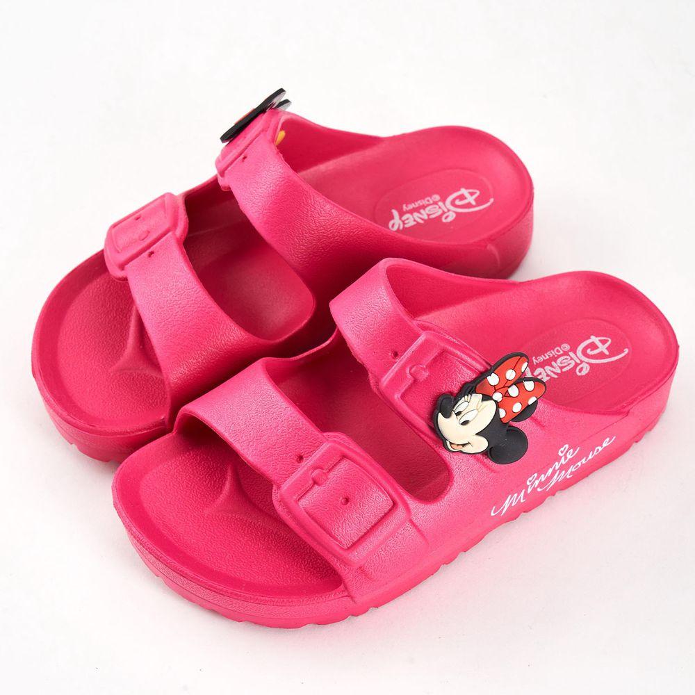 akachan honpo - 米妮立體造型防水拖鞋-桃色