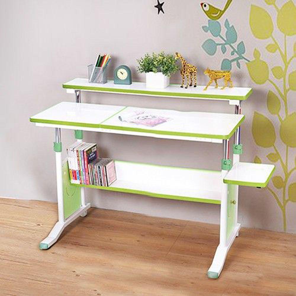 創意小天才 - 第五代兒童專用調節桌(90公分寬)/兒童書桌-清新綠