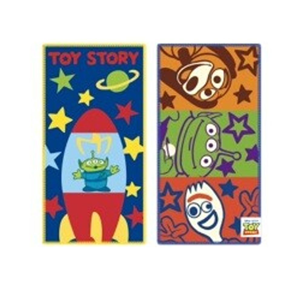 日本代購 - 長方形小手帕/毛巾兩入組-玩具總動遠-藍橘綠 (10×20cm)