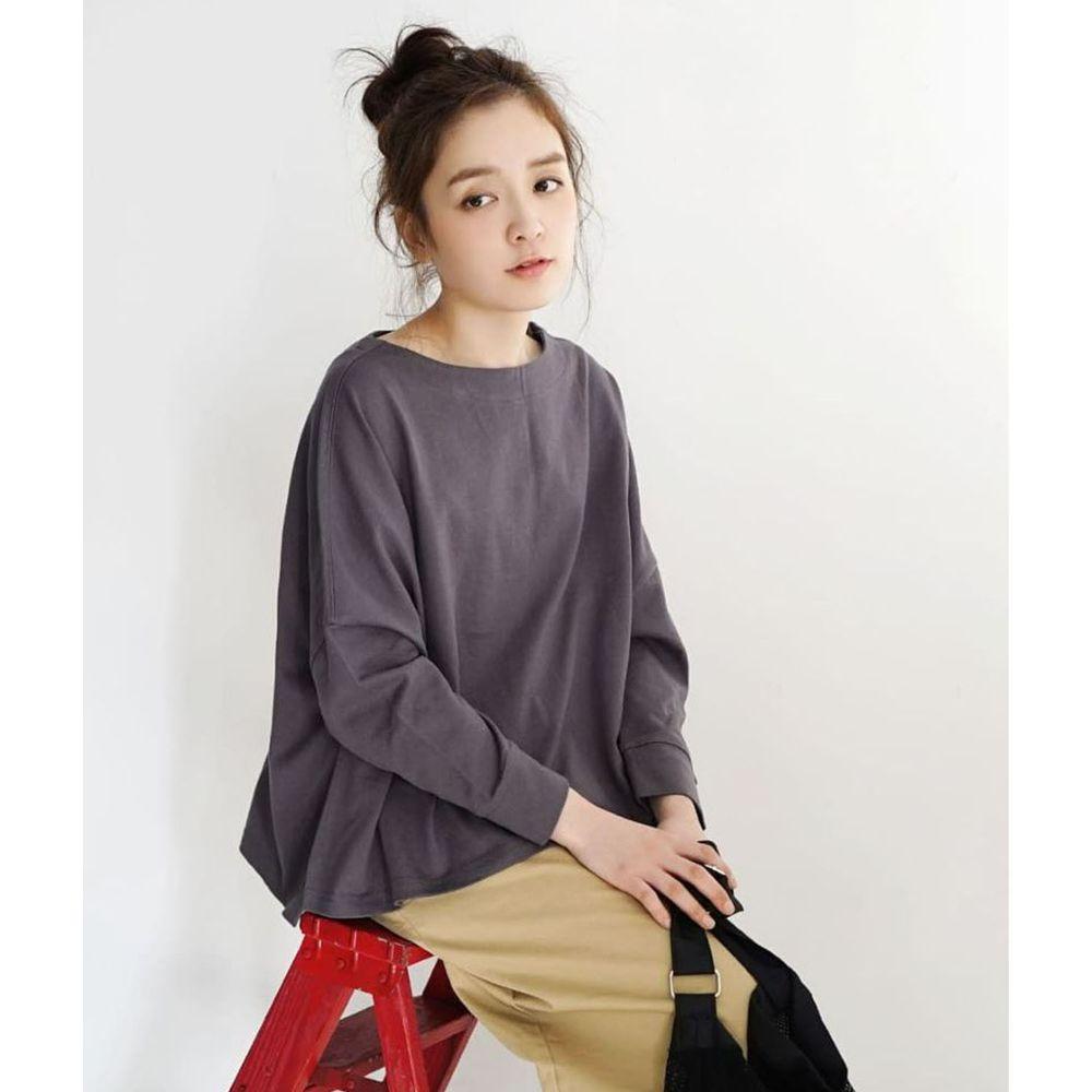 日本 zootie - [撥水/撥油加工] 抗油污耐洗純棉長袖上衣-深灰