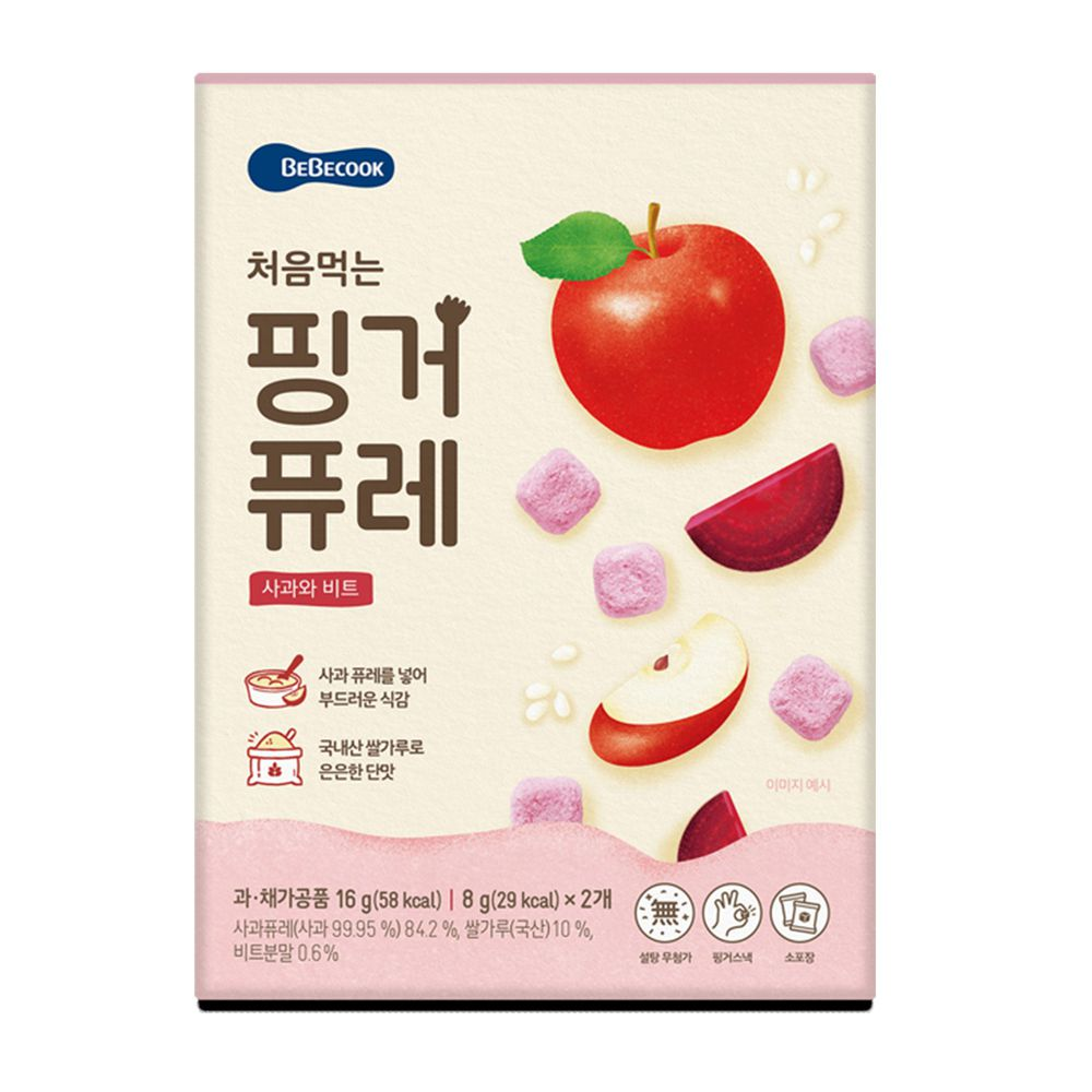 BEBECOOK 寶膳 - 嬰幼兒初食綿綿果泥餅 -蘋果甜菜
