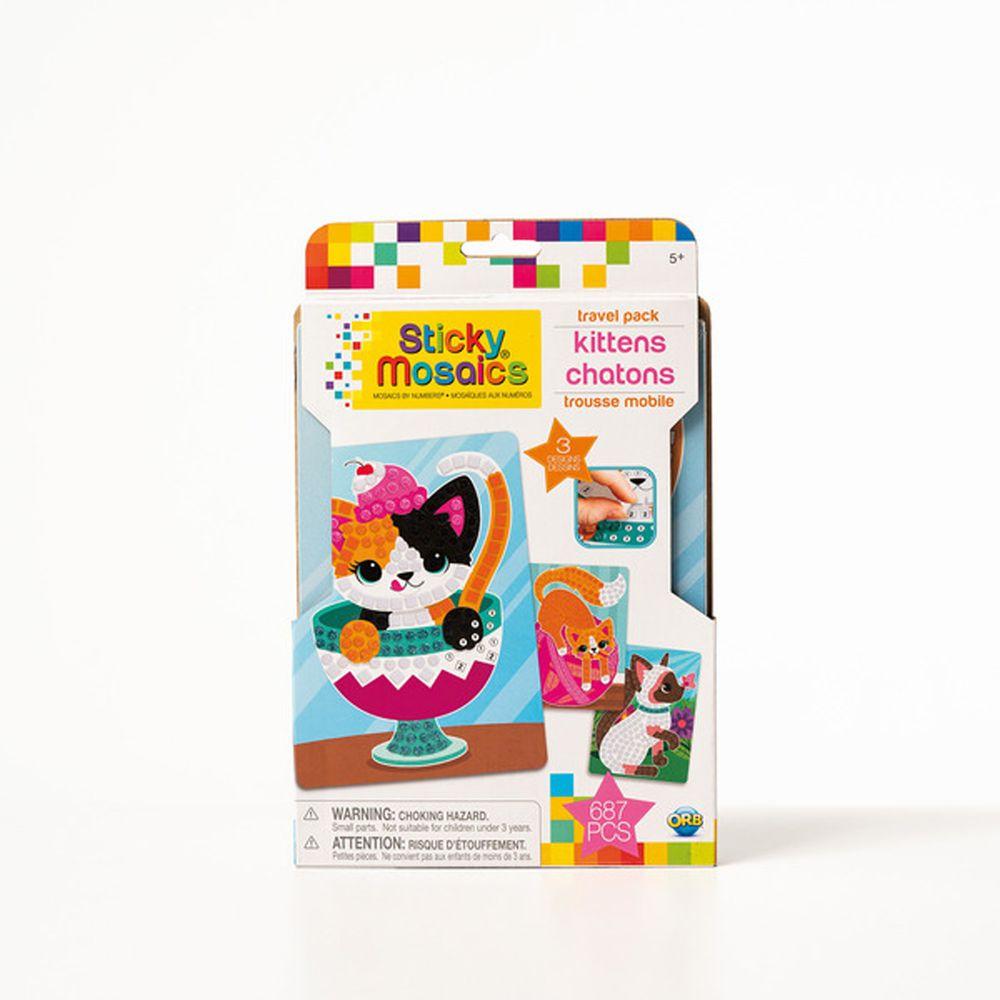 加拿大 Sticky Mosaics - 馬賽克拼貼旅遊包-家有小貓-687 pcs