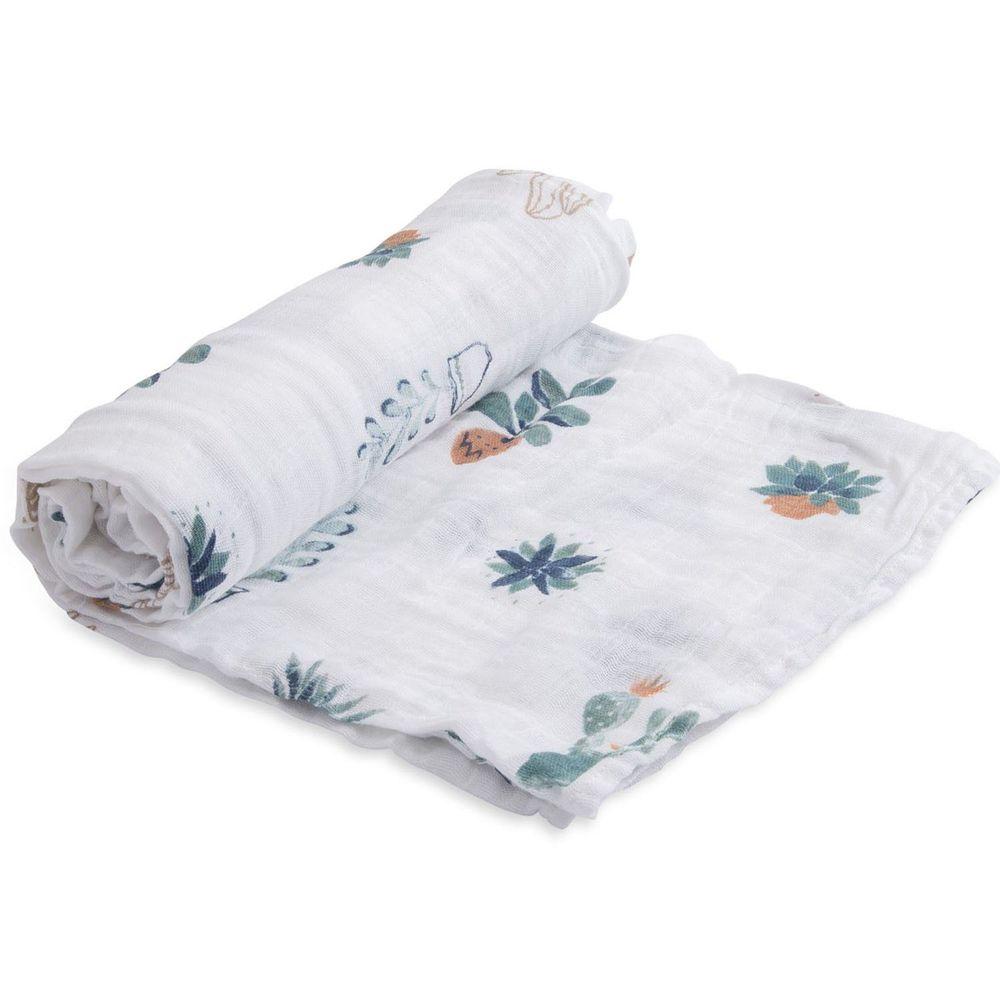 美國 Little Unicorn - 純棉紗布巾單入組-多肉植物