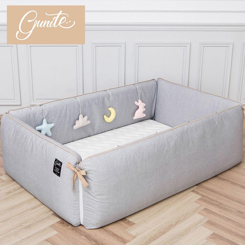 gunite - 沙發嬰兒床_安撫陪睡式0-6歲-北歐灰