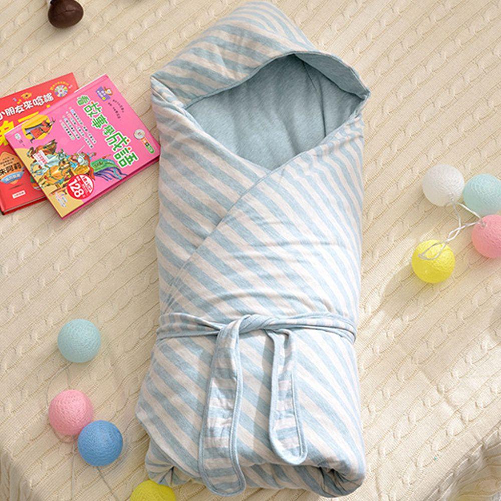 格蕾寢飾 Great Living - 義大利Fancy Belle色坊針織兒童包巾兩用被-綠 ((90*90CM))