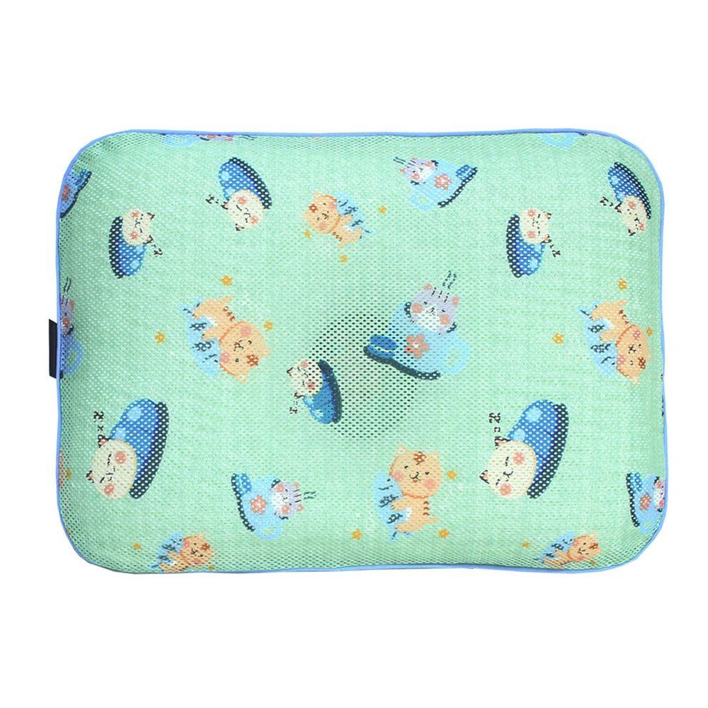 韓國 GIO Pillow - 超透氣防螨兒童枕頭-單枕套組-調皮貓咪 (L號)-2歲以上適用