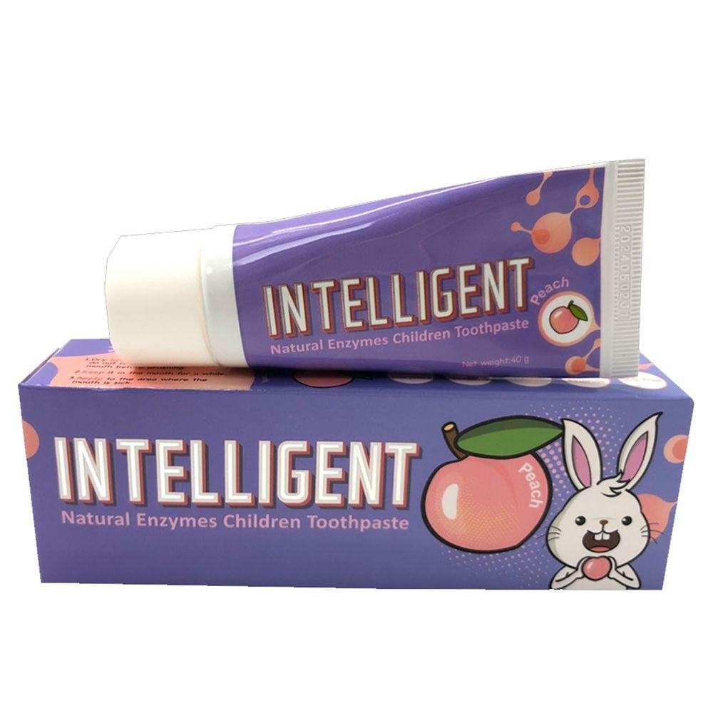 因特力淨 INTELLIGENT - 兒童酵素牙膏 (0歲以上,無氟,可吞食)-水蜜桃-40g