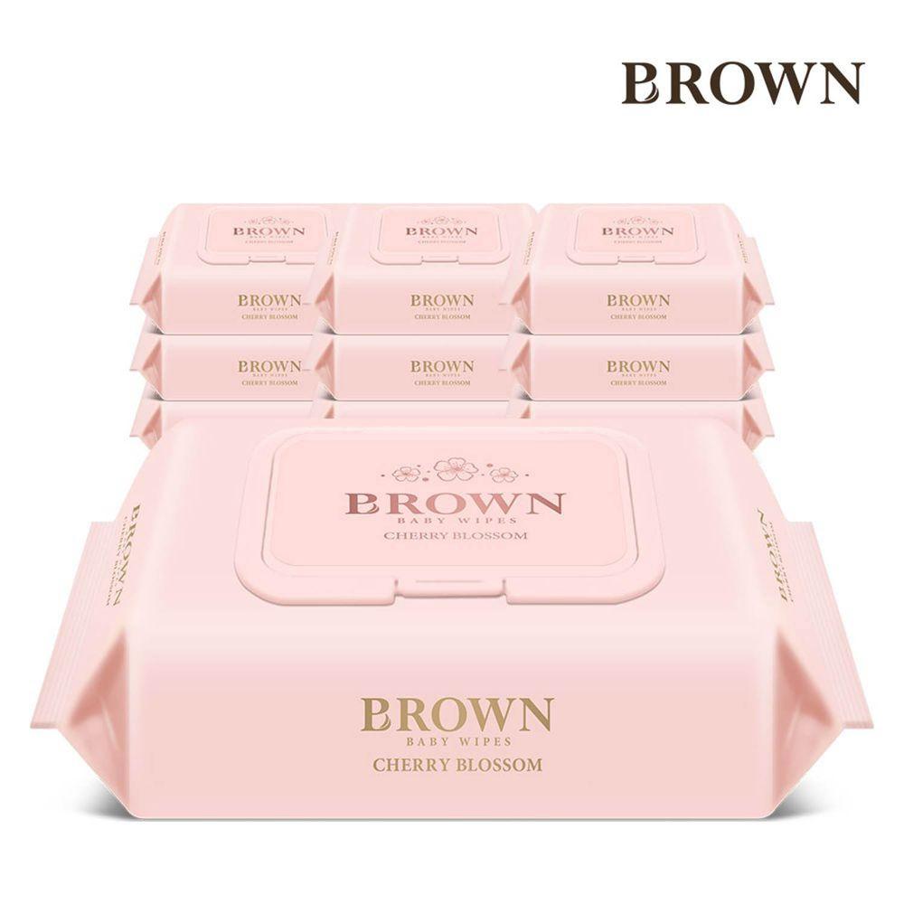 韓國BROWN - NATURE CHERRY BLOSSOM濕紙巾-櫻花72抽(含蓋)*10包
