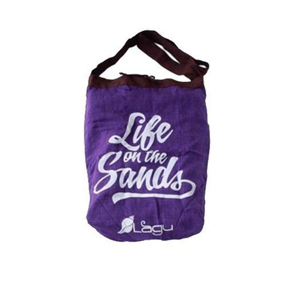 澳洲Lagu - 快乾沙灘袋-紫 (45cmx 38cm / 背帶長度: 112cm)