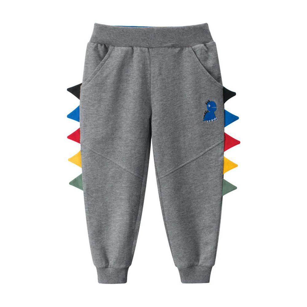 恐龍運動褲-碳灰