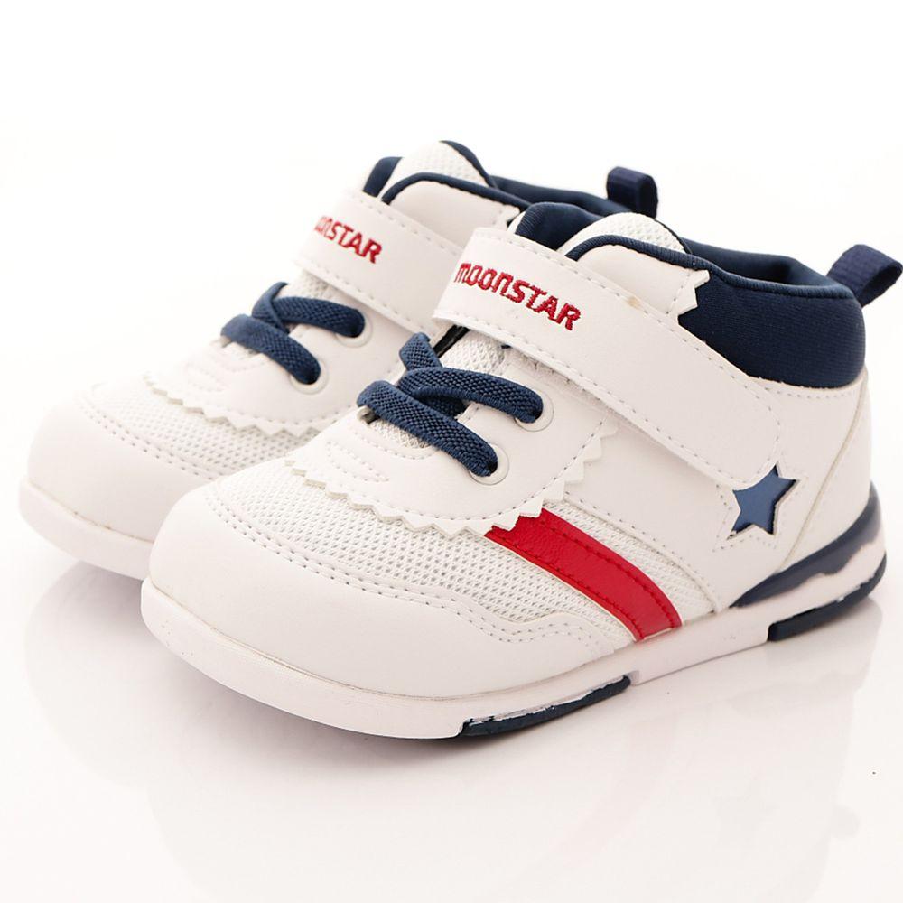 Moonstar日本月星 - 機能童鞋-頂級HI系列護踝款(寶寶段)-白藍