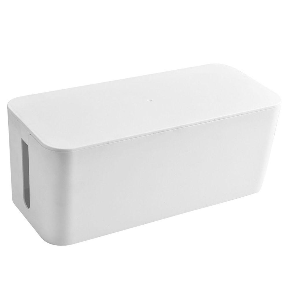 電源線收納整理盒-大號-白色 (32x13.7x13cm)