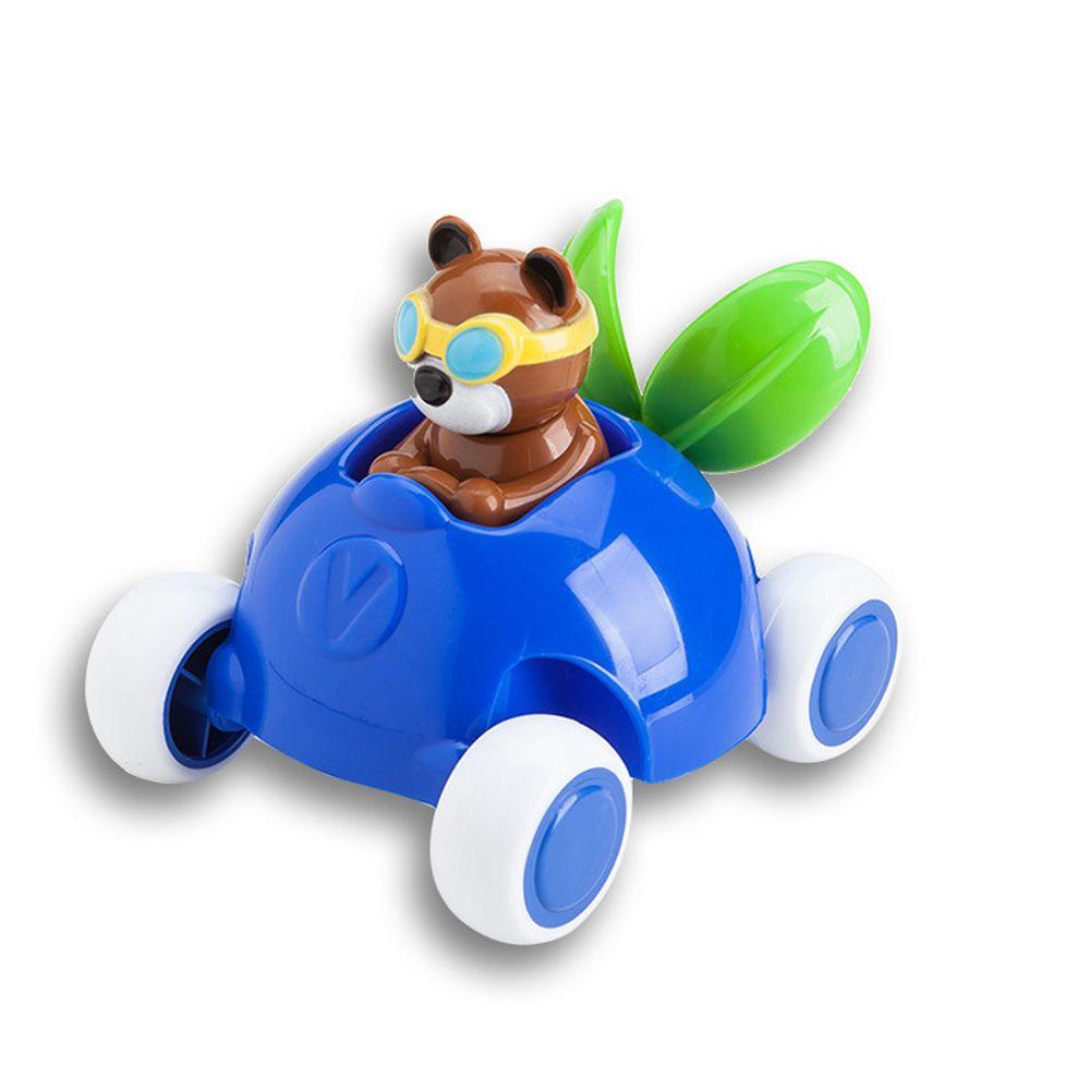 瑞典Viking toys - 【新品】動物賽車手-貝兒藍莓號-14cm