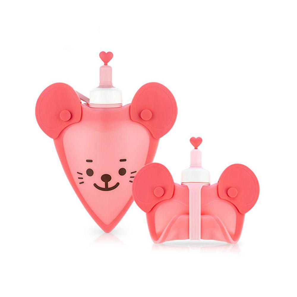 韓國 sillymann - 100%鉑金矽膠老鼠水袋-250ml-粉色