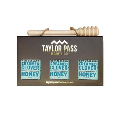 乳狀三葉草蜂蜜禮盒-贈 實木蜂蜜棒(北美楓木)價值250元-375gm*3