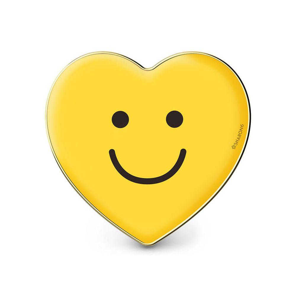 韓國 SHARON6 - 手機氣囊支架-愛心款-黃色笑臉