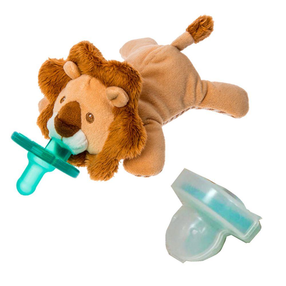美國 MaryMeyer 蜜兒 - 玩偶安撫奶嘴-收納絕配組-非洲獅+奶嘴專用盒(透明)