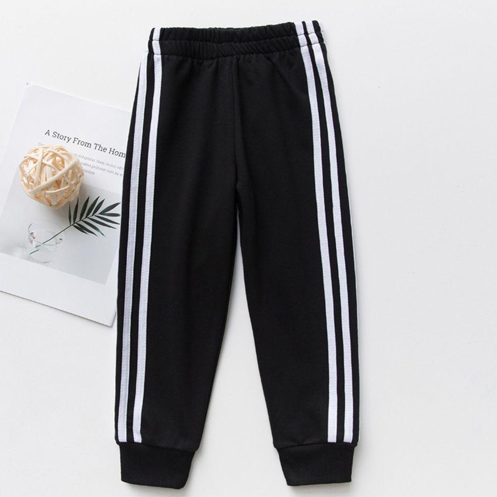 FANMOU - 運動束口褲-經典黑