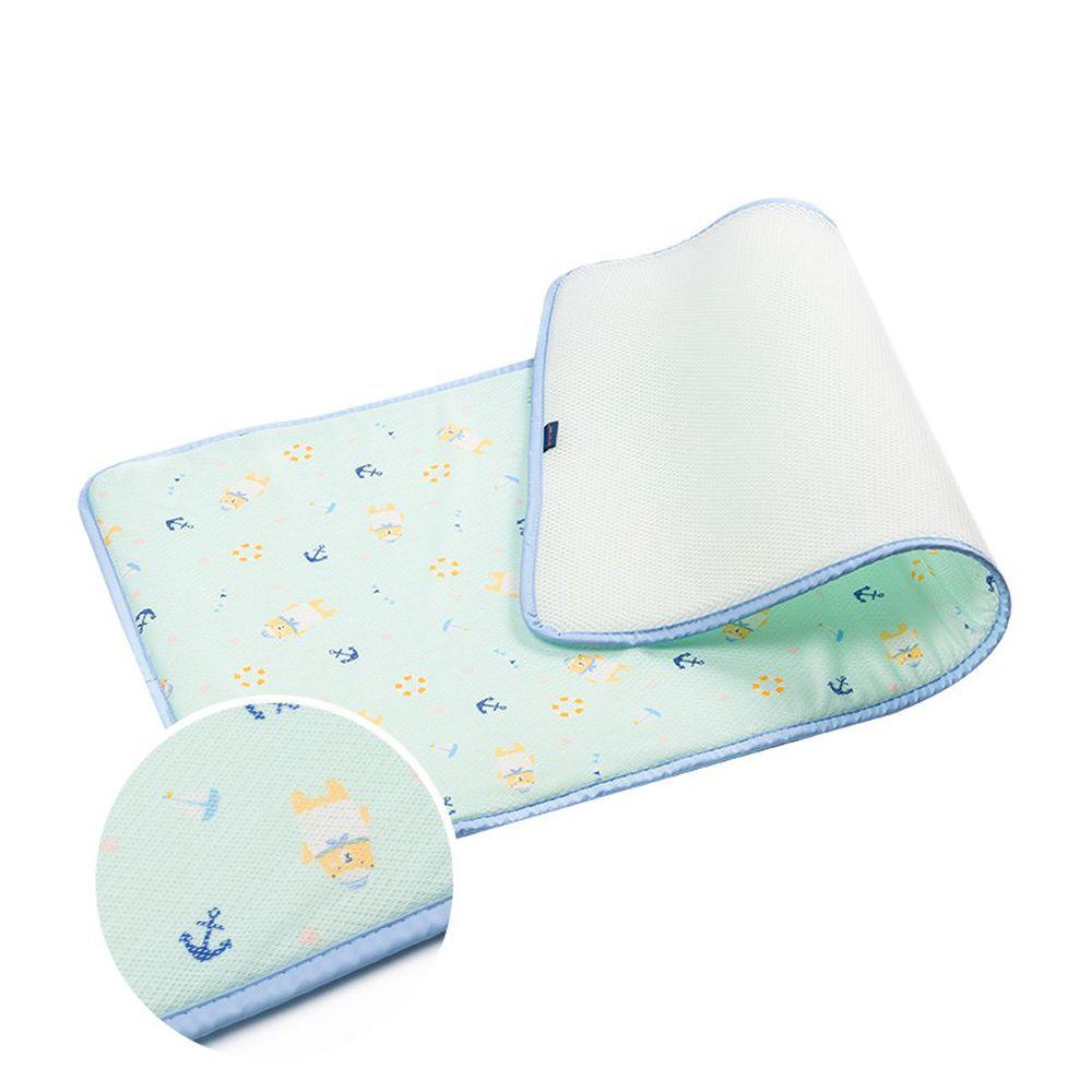 韓國 GIO Pillow - 超透氣排汗嬰兒床墊-水手熊藍 (L號)