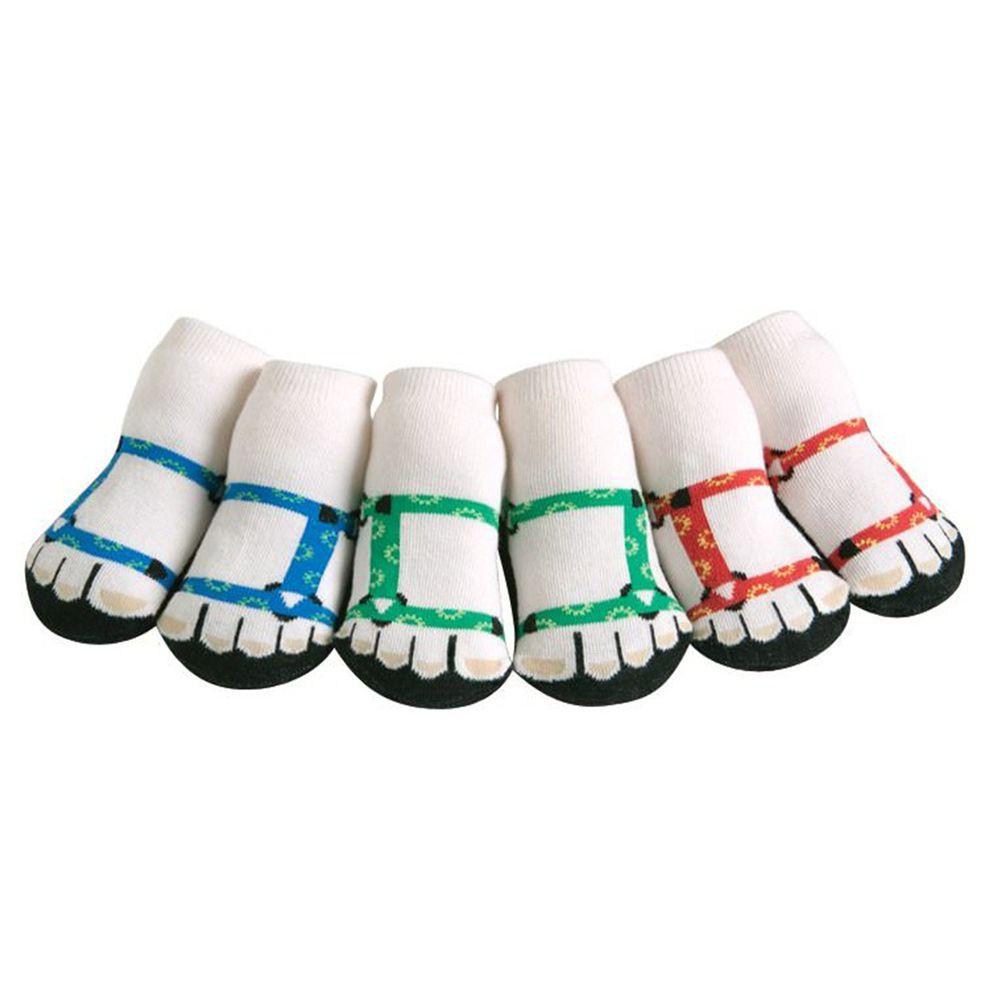 美國 Jazzy Toes - 時尚造型棉襪/止滑襪/假鞋襪/嬰兒襪_三入禮盒組-登山鞋造型襪