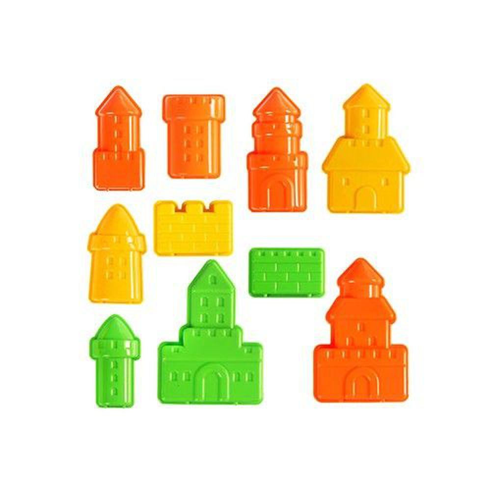 TUMBLING SAND 翻滾動力沙 - 夢幻城堡10件組-顏色隨機