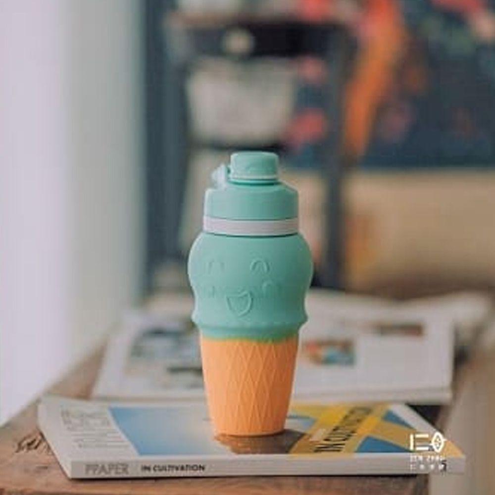 仁舟淨塑 - 甜筒矽水杯-青蘋綠