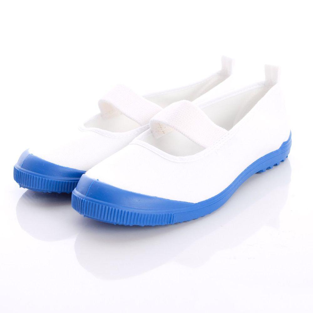 Moonstar日本月星 - 日本月星機能童鞋-日本製冠軍室內鞋鐵氟龍版(中小童段)-白藍