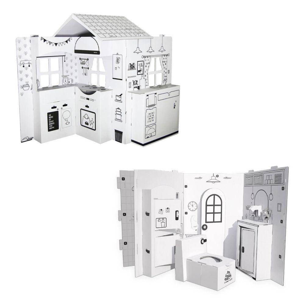 韓國ANBOX - 趣玩紙屋 - 廚房我做煮+我的悅樂浴室