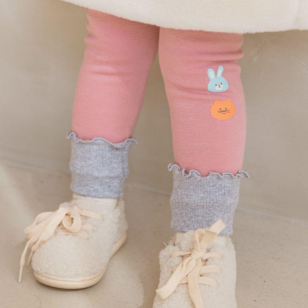 韓國 Bebezoo - 兔子貓咪內搭褲-粉紅