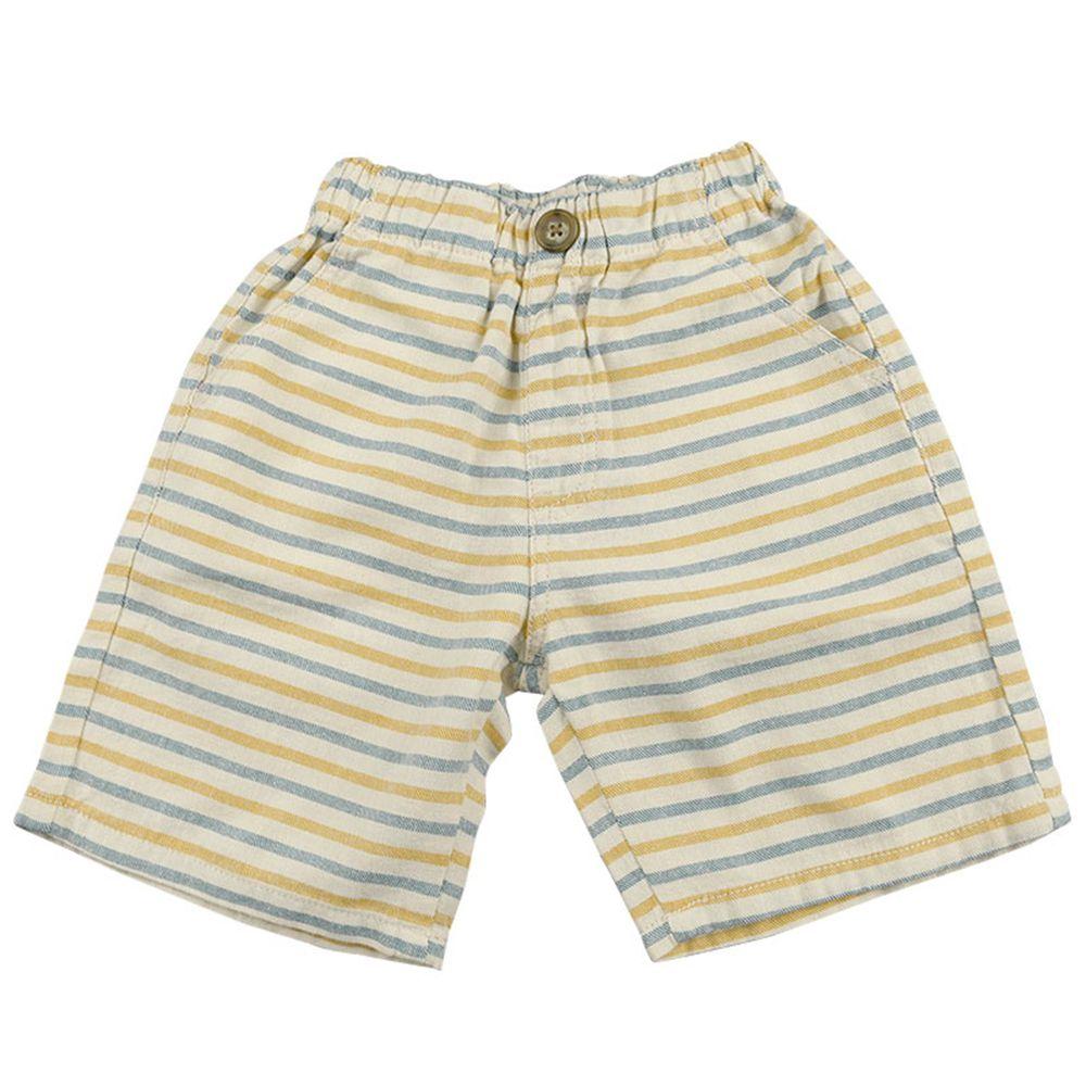 akachan honpo - 五分短褲 平織滿版印花-淺卡其色