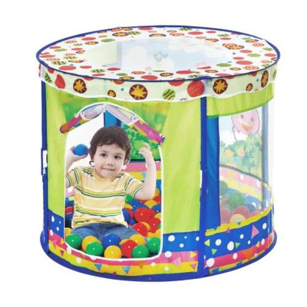DJ Toys - 小小天地遊戲球屋(送80顆海洋球)-(送80顆海洋球)
