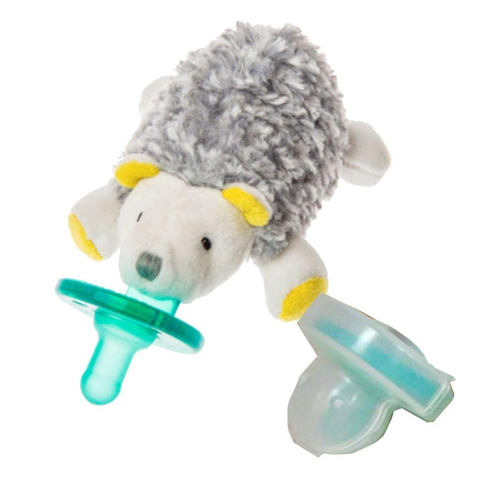 美國 MaryMeyer 蜜兒 - 玩偶安撫奶嘴-收納絕配組-酷小蝟+奶嘴專用盒(透明)