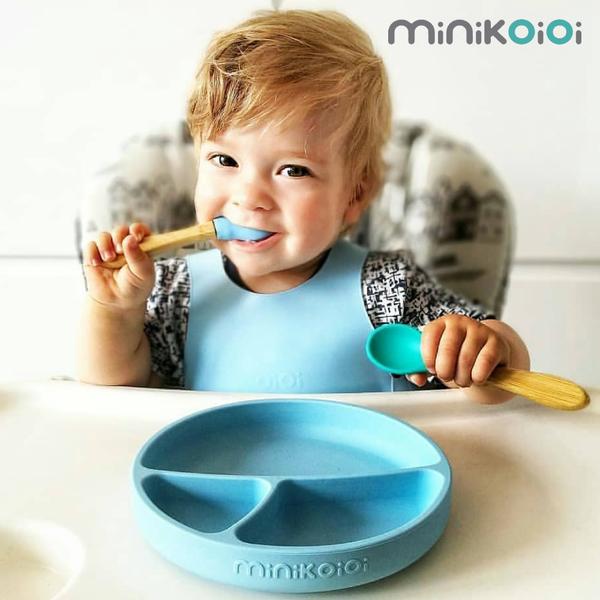 土耳其製【minikoioi 美型餐具】軟 Q 矽膠,可進微波爐、消毒鍋
